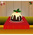 Christmas pudding on the table vector image