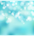 bokeh blue and white sparkling lights festive vector image