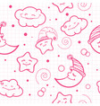 for baby pattern night pattern moon and stars vector image