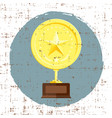 golden star achievement award with grunge texture vector image
