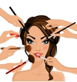 Make up concept vector image