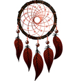 native american dreamcatcher vector image