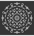 Round flower pattern on black background vector image