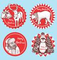 Sketch Christmas icons vector image