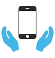 Smartphone Care Hands Eps Icon vector image