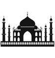Taj-mahal temple silhouette vector image