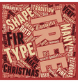 Christmas Tree Types text background wordcloud vector image