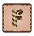 letter f candies chocolate vector image