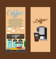 coffee shop vertical flyers vector image
