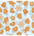 doodles christmas cookies gingerbread - vector image