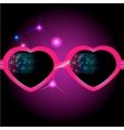 glasses on disco background vector image