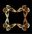 Golden butterfly design element vector image
