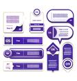 Set of blue-violet progress version step icons eps vector image