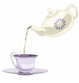 Teapot and tea pare vector image
