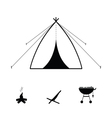Tent camping icon vector image