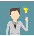 Big Idea Concept with Man and Lightbulb vector image vector image