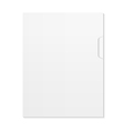 Blank Document and folder isolated on white vector image