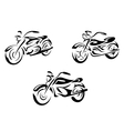 Motorcycles and bikes vector image vector image