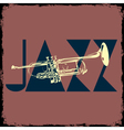 Trumpet musical background vector image vector image