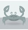 Merry crab on the beach vector image