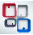 Abstract 3d frames with place for text vector image
