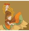 Flower power bohemian hippie chic girl vector image vector image