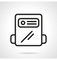 Black line gas counter icon vector image