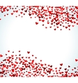 Romantic red heart background vector image