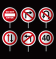 Traffic directional signs vector image vector image