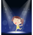 Little Girl Stage Performance vector image