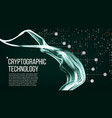 cryptographic technology background vector image