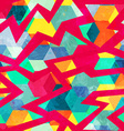 grunge retro mosaic seamless pattern vector image
