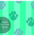 pattern of traces of dogs vector image