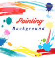 Scenic from brush strokes background vector image