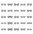 set of glasses and sunglasses vector image