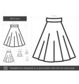skirt line icon vector image