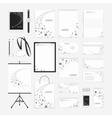 Grey stars corporate identity template vector image vector image