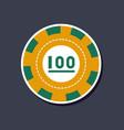 paper sticker on stylish background single poker vector image