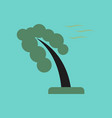 flat icon on stylish background strong wind tree vector image