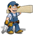 Handyman Carpenter Blue vector image