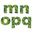 Beautiful typescript with natural spring pattern vector image