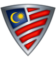 steel shield with flag malaysia vector image vector image