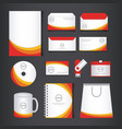 corporate brand identity template set vector image