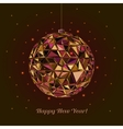 Geometric christmas ball Holidays Background vector image
