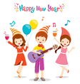 Girls And Boy Fun With Party vector image