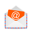Letter to the e-mail symbol vector image