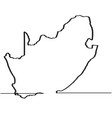 map of south africa continous line vector image