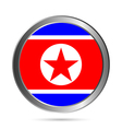 North Korea flag button vector image