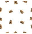 seamless pattern with coffee paper bag vector image