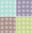 set 4 floral seamless pattern vector image